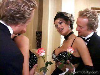 angelina valentine gold digging whore bride