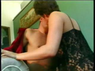 sexy brunette wife eats his dick and rides it is