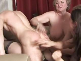 older ladies having joy and awsome group fucking
