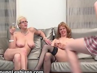 two excited older wifes having part8