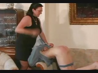granny thongs and spanks the lad pt6