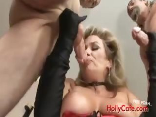 aged playgirl acquires her soaked fur pie and ass