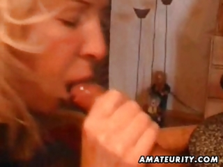 mature non-professional wife home full blowjob