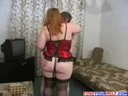 fat big beautiful woman russian older mom with son