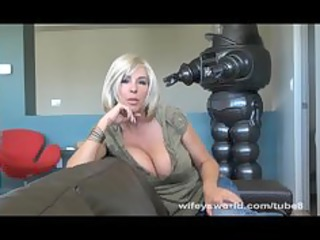 breasty neighbour sucks cock and swallows