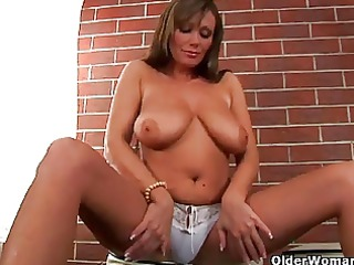 milf with large love muffins is toying her older