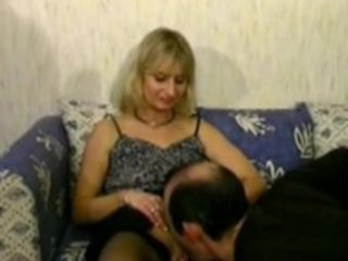 blond aged cheats on her husband