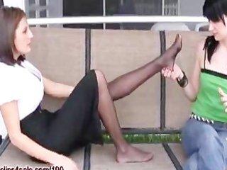 daughter worships mammas feet