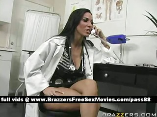 dilettante breasty brunette hair doctor at her
