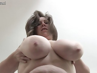 british housewife likes playing with her massive