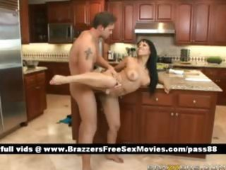 hawt in nature brunette hair wife in the kitchen