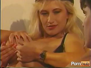 vintage hardcore with a hot golden-haired in a