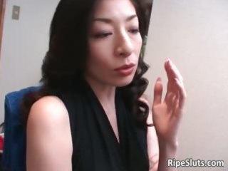 mature oriental slut gets he is moist hairy part5