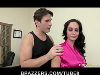 sexy horny executive ava addams massaged and