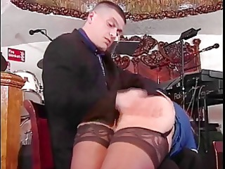 slut in nylons receives ass spanked