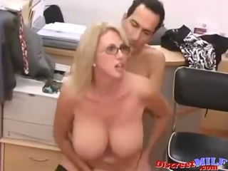 soaked mother i drilled hard in the office