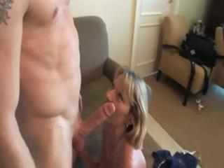 she is is a hot older blonde who gets pounded by