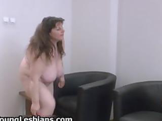 lascivious mature lady with huge bra buddies