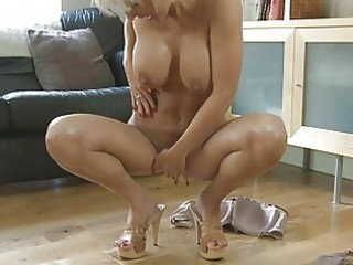 carnal blond momma with big tits in heels
