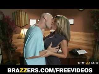 big-tit brunette hair doctor uses her patient for