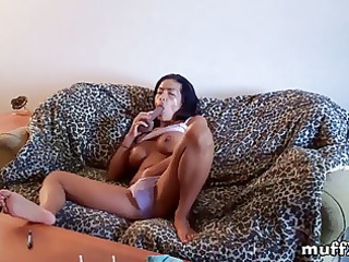 nice-looking tia in great solo action
