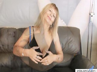 breasty mature fingering her hairy pussy
