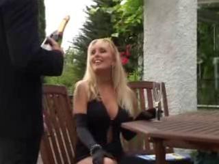 unknown blond older mother screwed in public