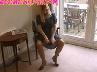 bitch english wife in retro lingerie and silk