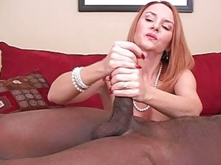 older amateur wife interracial cuckold handjobs