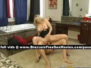 precious blond wife on the baths floor