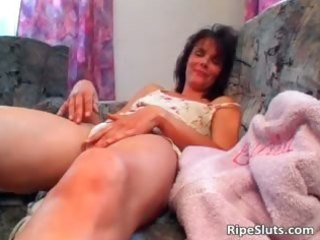 horny aged dark brown gets wet curly
