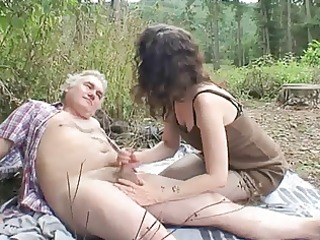 outdoor older couple sex