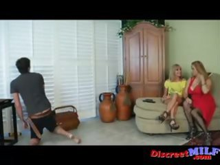 milfs give cable guy cook jerking