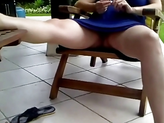 voyeur 73, a preggy mom resting, no panties (mrno)