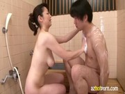 azhotporn.com - mature oriental lady bathing fuck