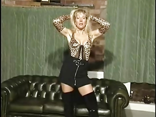 british milf whore anna in a small in number solo