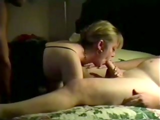 my slut wife double drilled on camera