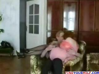 wicked redheaded mamma seduces young lad and