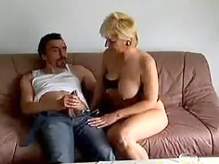 mad old mom gets screwed hard and ejaculation on