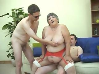 310 years old greedy grandma libby threesome