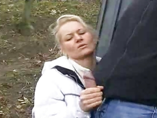 Milf sex in public street