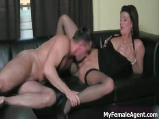 lascivious milf boss gets her constricted