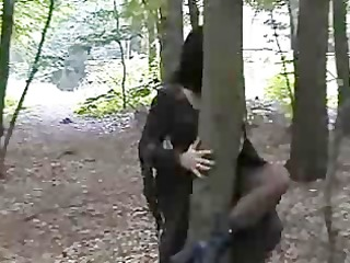 goth slut groupfucked in the woods