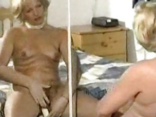unshaved mature slow tease and vibrator play
