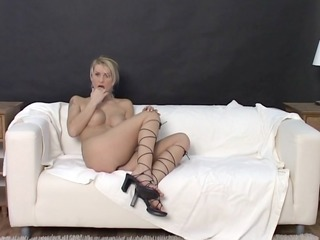 blond mother i plays with her valuable body -