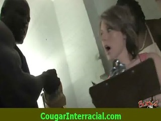 interracial sex - hot cougar milf gets screwed by