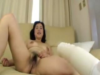 bushy asian aged acquires fingered