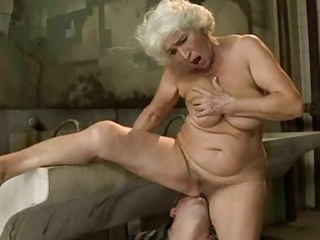 breasty granny receives drilled in public