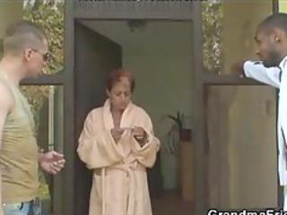 lonely grandma receives pounded by horny boyz
