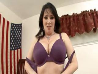 hawt brunette hair mom with a worthy rack gets